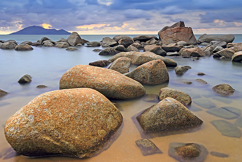 seascape beach indonesia landscape rocks borneo kalimantan singkawang