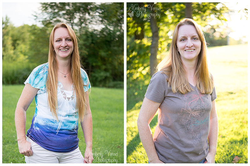 Hair donation - before/after - me