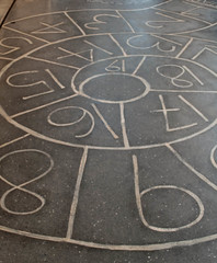 039 numbers on the floor