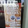 Farm to fork restaurant weeks September 13 - 28 Farmtofork.com