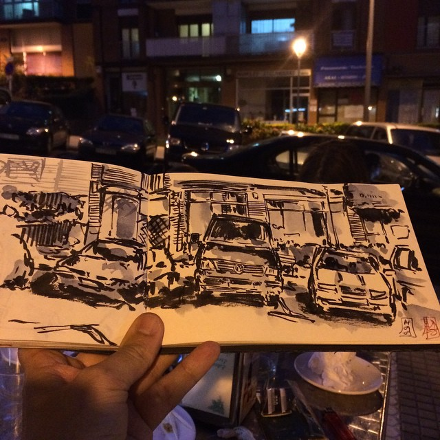 #urbansketch #donostia #pentel  #watercolor