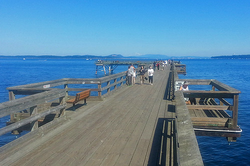 Pier in Sidney, Greater Victoria, Vancouver Island, British Columbia