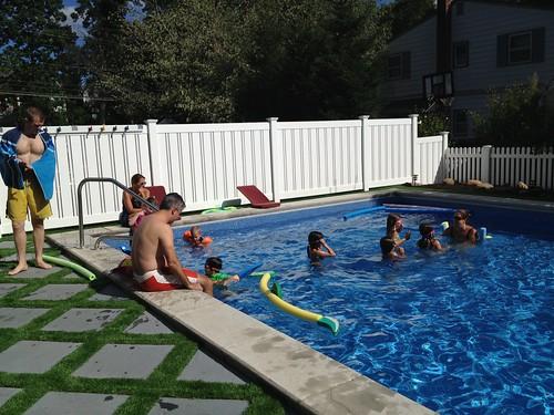 sunday pool action