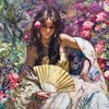 """Morena"" Fine Art Limited Edition by Master Royo at EC Laguna Beach Gallery #art #lagunabeach #royoart #morena #arte"