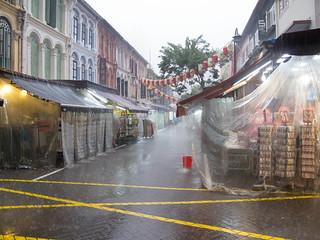 Regen in Chinatown