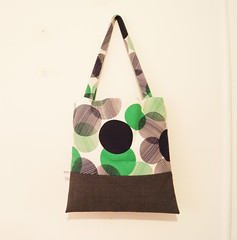 Vintage green and black spotted Shoulder Bag by little minx
