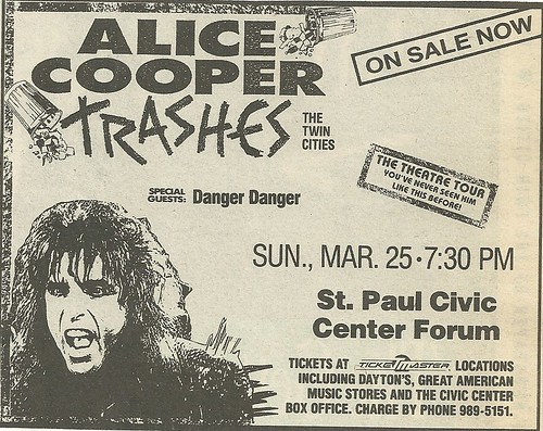 03/25/90 Alice Cooper/ Danger Danger @ St. Paul Civic Center Forum, St. Paul, MN