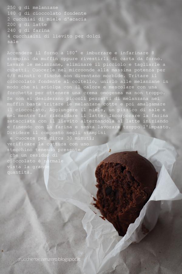 Muffin alle melanzane e cioccolato