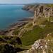 Péninsule de Gower, près de Caswell Bay, Pays de Gales.