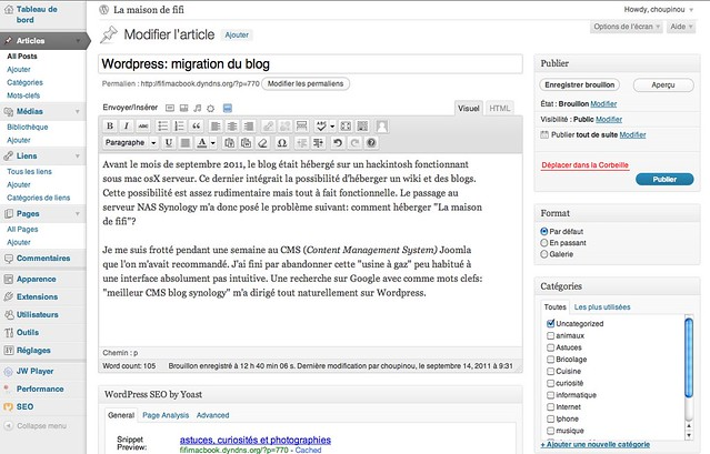 Interface-wordpress