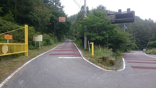 左はクリスタルラインらしく、なんともモチベを削いできそうな道です
