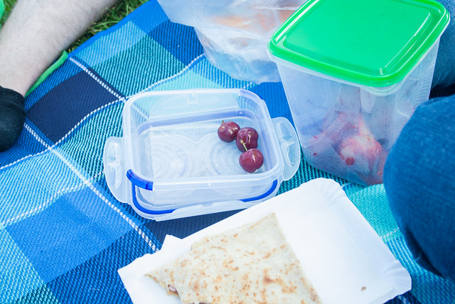 Picnic - cherries and strawberries