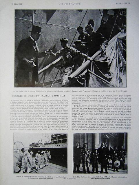 L'ILLUSTRATION 24-6-1922 - S.M. KHAÏ DINH, EMPEREUR D'ANNAM