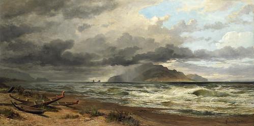 009- Estrecho de Cook- Nueva Zelanda-Chevalier, Nicholas (artista), circa 1884-Museo Te PapaTongareva