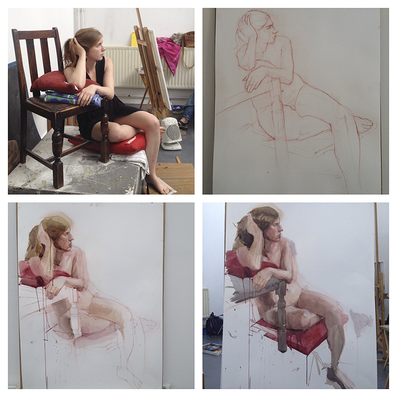 Life drawing steps