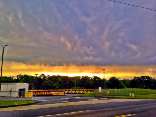 sky clouds sunrise holly springs hdr elementary