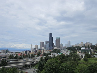 Downtown Seattle & I-5 from 12th Avenue Bridge