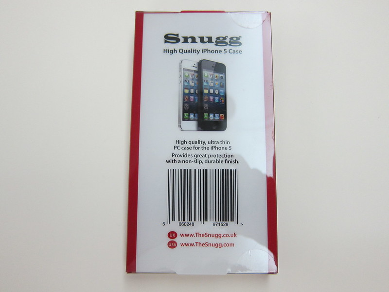 Snugg iPhone 5s Ultra Thin Clear Case - Packaging Back