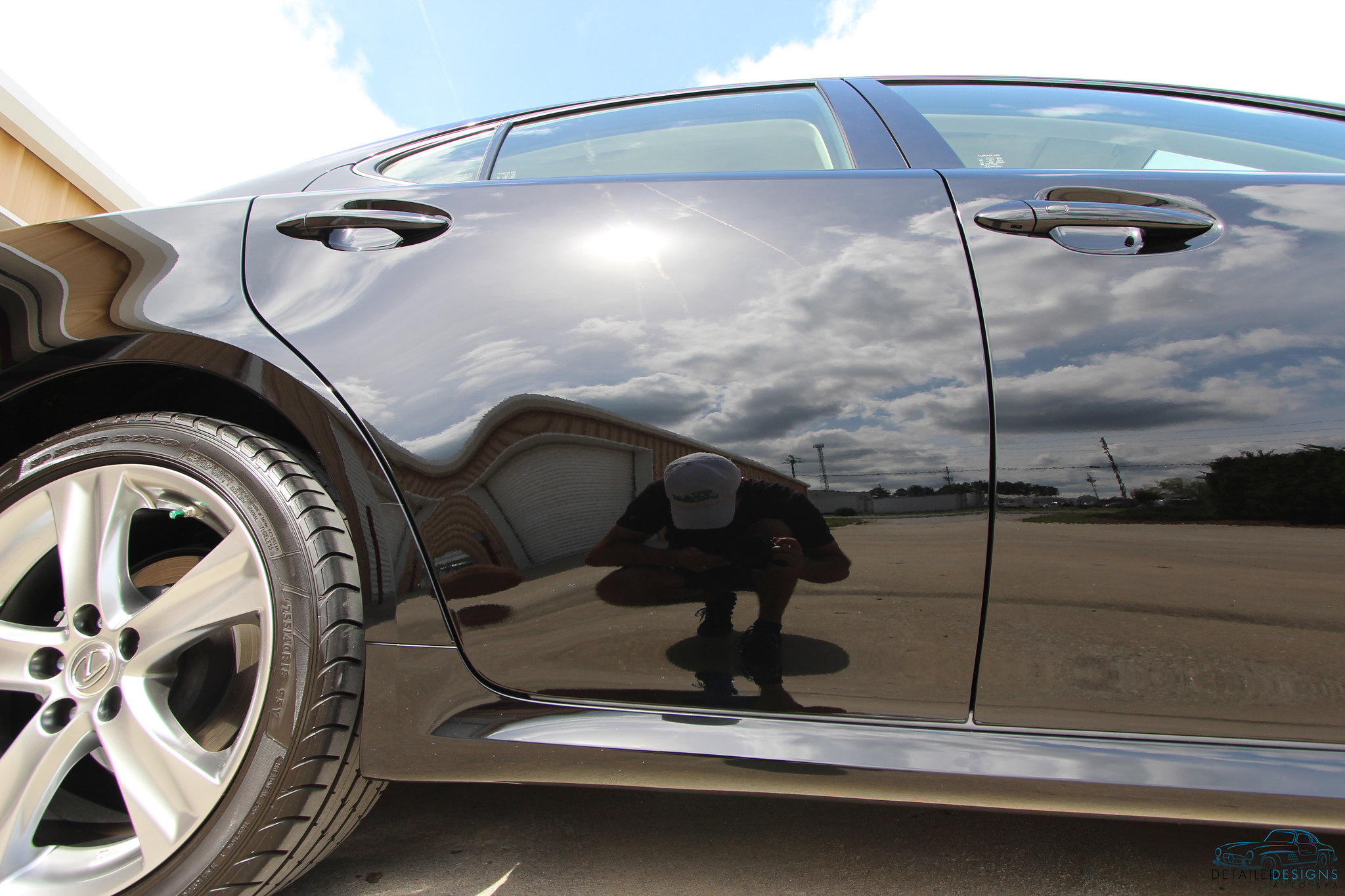 Atlanta auto detailing company saves lexus paint from swirls for Car painting atlanta