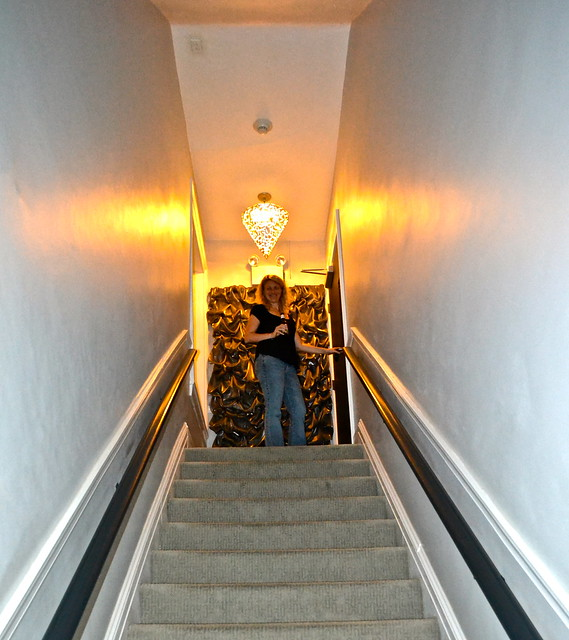 stairway to the penthouse suite - General Sutter Inn in Lititiz, PA