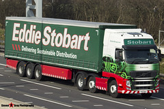 Volvo FH 6x2 Tractor with 3 Axle Curtainside Trailer - PX11 BXU - H4656 - Fiona Lynne - Eddie Stobart - M1 J10 Luton - Steven Gray - IMG_5606