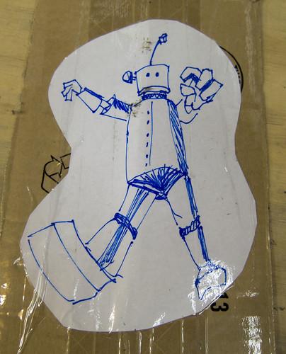 RA! Giant ROBOT!!