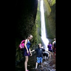Wednesday adventure @Oneonta falls, OR #columbiagorge #waterfall #pacificNW #oneontafalls #hiking