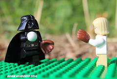 Darth & Son playing catch