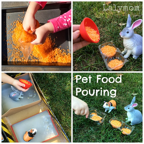 Pet Food Pouring (Photo from Lalymom)