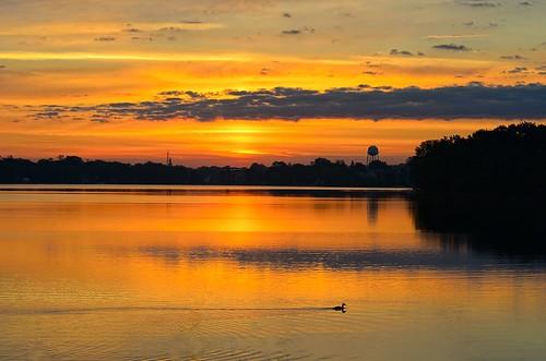sunrise landscape beaverdam