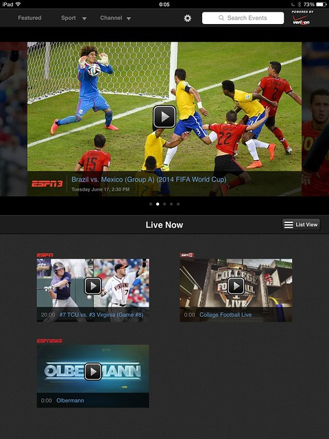 WatchESPN on the iPad Doesn't Have the Same World Cup Highlight and Feature Depth
