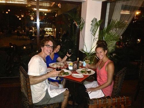 eating dinner at the Lodi Garden Restaurant