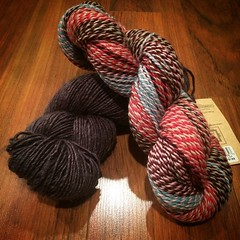 New #yarn I picked up in #frankenmuth this past weekend! Moonshine from @junipermoonfarm and some Crazy from Stonehedge Fiber Mill. Love them both! #365