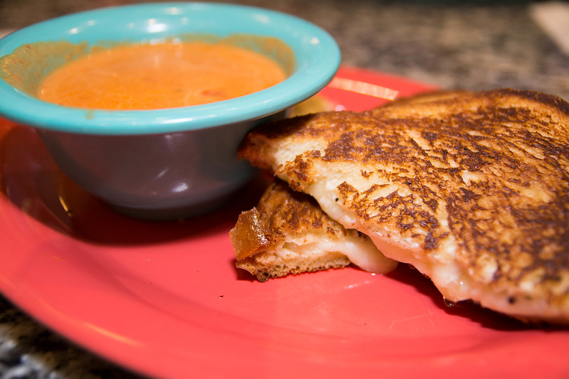Grilled Cheese and Tomato Bisque