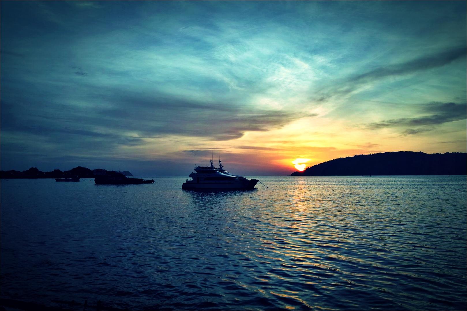 석양-'코타키나발루 둘러보기 Sightseeing Kota Kinabalu '