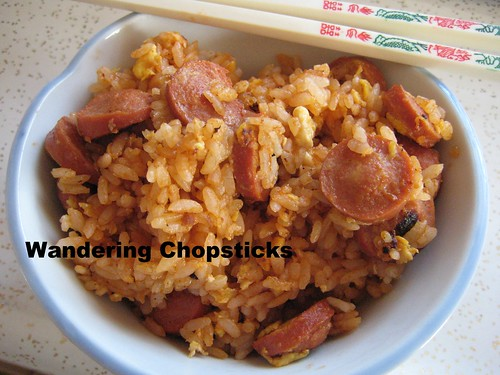 Fried Rice with Hot Dogs, Eggs, and Ketchup 9