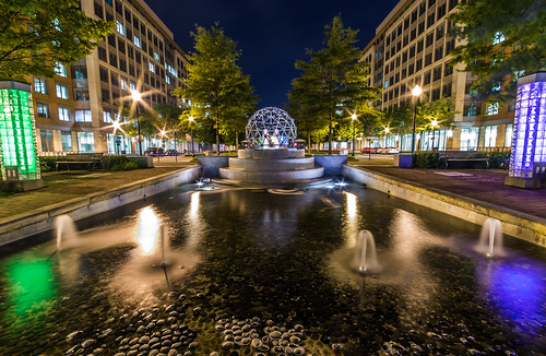USPTO Office Geodesic Fountain by Geoff Livingston