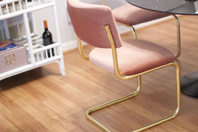 retro brass dining room chair