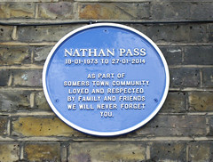 Photo of Nathan Pass blue plaque