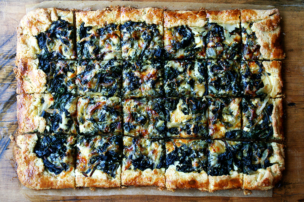 Savory Slab Galette with Chard and Gruyere