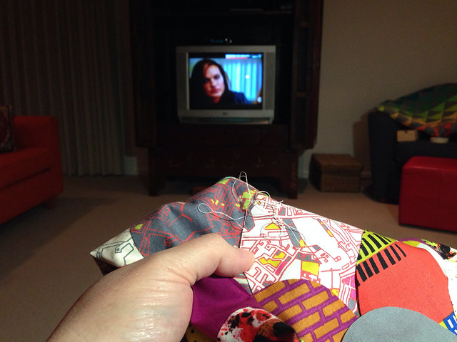Stitching on TV catchup night