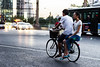 Couple on push bike  - Beijing