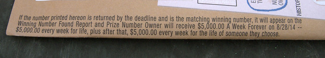 Publishers Clearing House envelope