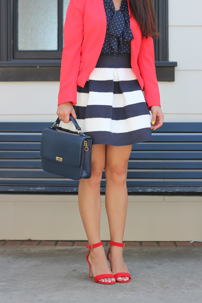 Navy Stripes, polka dots and red-5