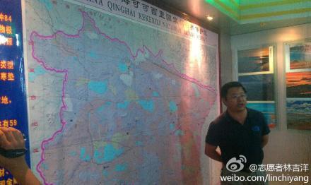 可哥西裡保護局布周局長親自解說。(圖片來源:林吉洋)