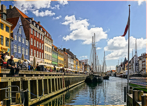 water copenhagen denmark nyhavn canal view sony