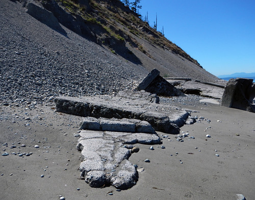 Gun Mount Fallen onto the Beach Below Fort Ebey