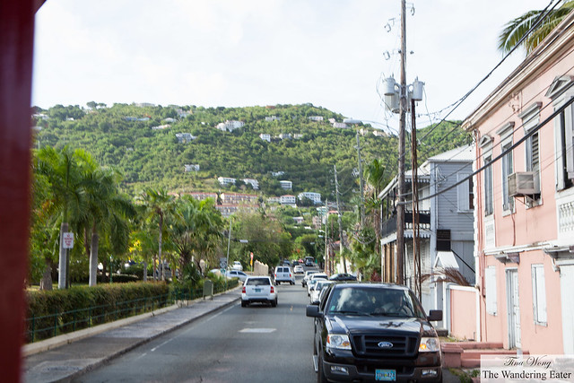 A view of town at Charlotte Amalie