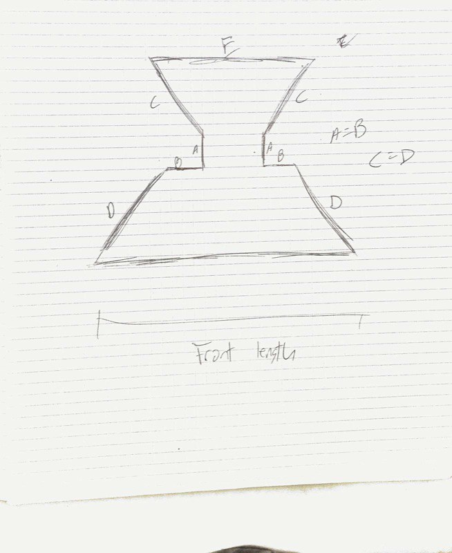 Design for a hip pouch to fit on a utility belt. Scanned sketch 4.