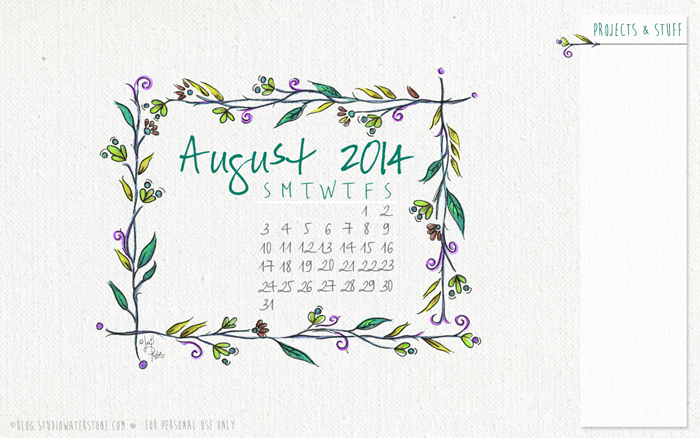 August 2014 Desktop Wallpaper